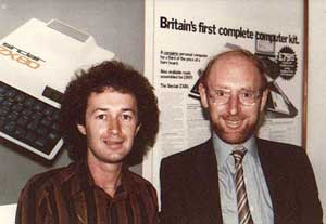 Tim with Sir Clive Sinclair