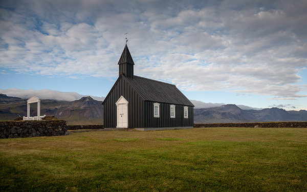 The black church at Budir, Iceland